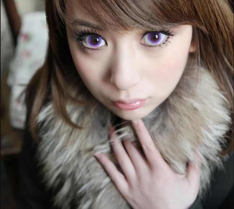 EOS Bubble Violet Contact Lenses