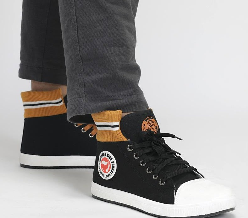 Haikyuu!! Karasuno Style High Top Canvas Shoes / Sneakers