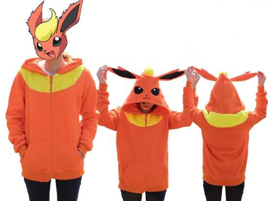 Pokemon Flareon Zip-Up Hoodie