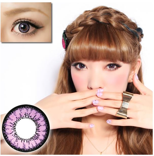 Geo Angel Violet Contact Lenses