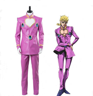 JOJO's Bizarre Adventure: Golden Wind Giorno Giovanna Cosplay Costume / GioGio Cosplay