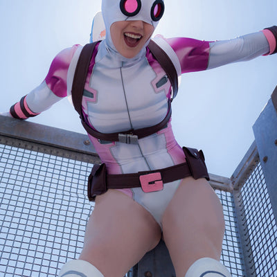 Gwenpool Spandex Body Suit Cosplay Costume (Accessories not included)