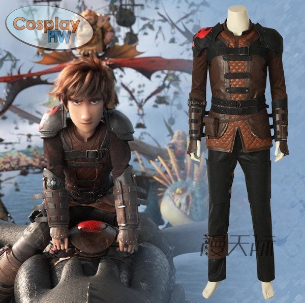 How To Train Your Dragon 3: The Hidden World Cosplay Hiccup Costume Male Full Set Of Male / L