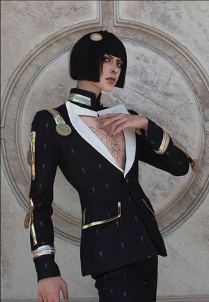 Jojo's Bizarre Adventure Golden Wind Bruno Bucciarati Herringbone Suit Cosplay Costume