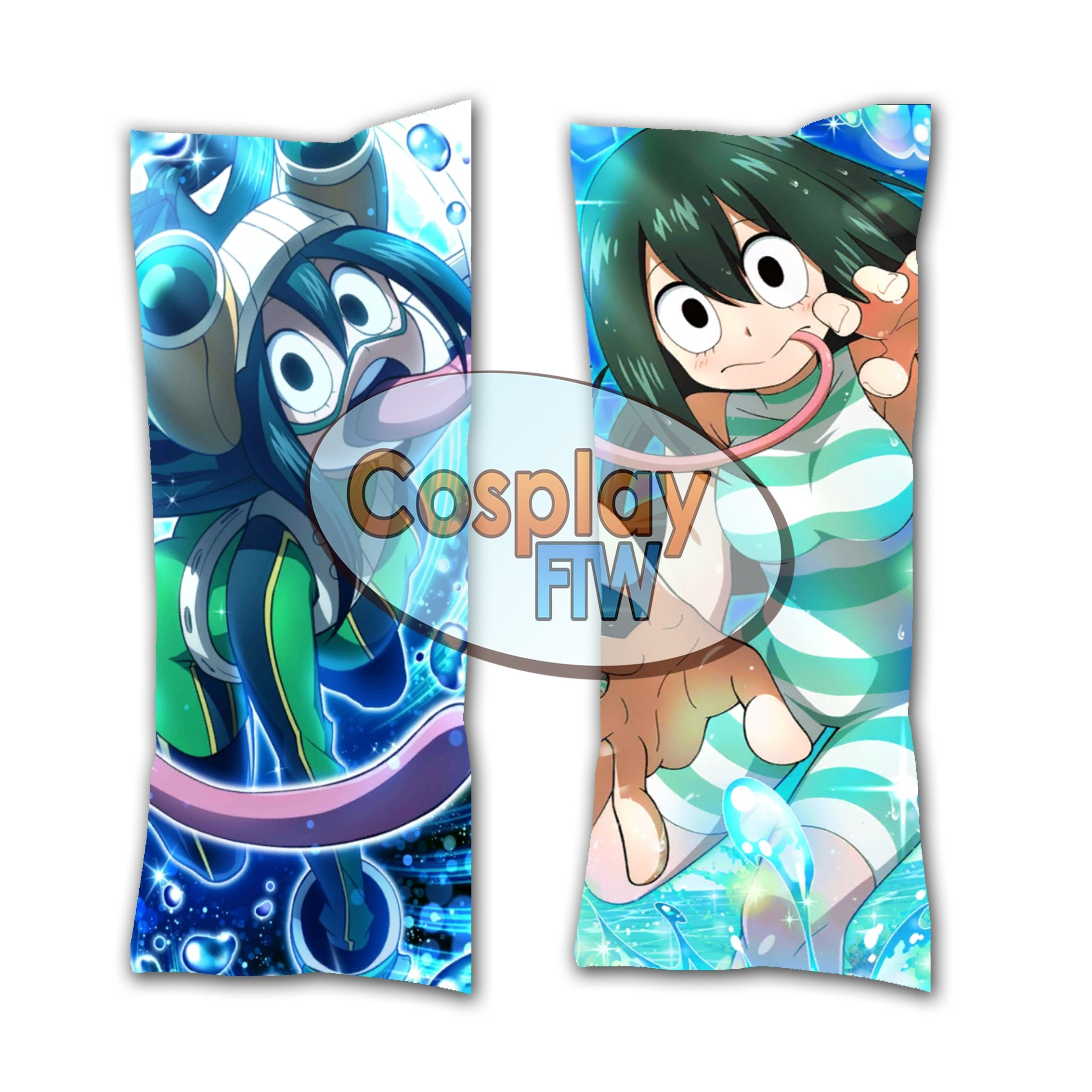 My Hero Academia Asui Tsuyu Dakimakura// Anime Body Pillow // Valentines Day Gift