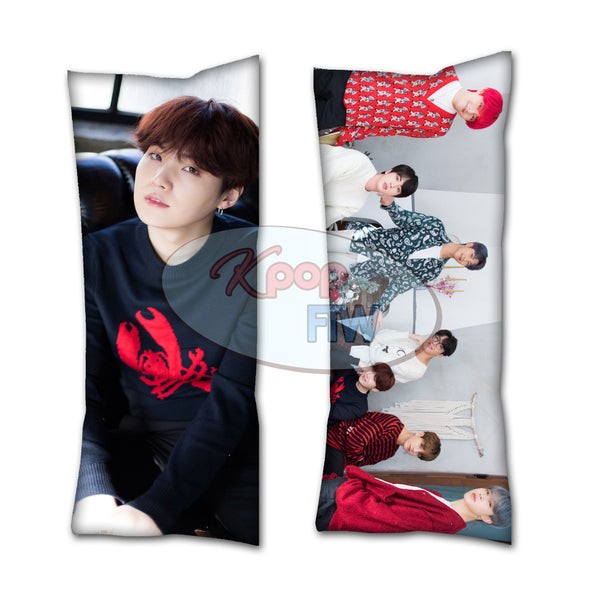 BTS Winter Suga Body Pillow // KPOP pillow // Valentines Day Gift