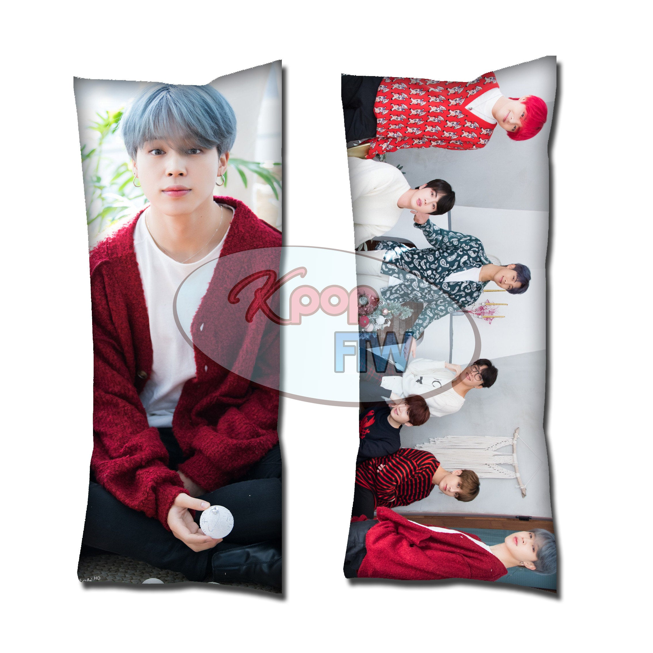 BTS Winter Jimin Body Pillow // KPOP pillow // Valentines Day Gift