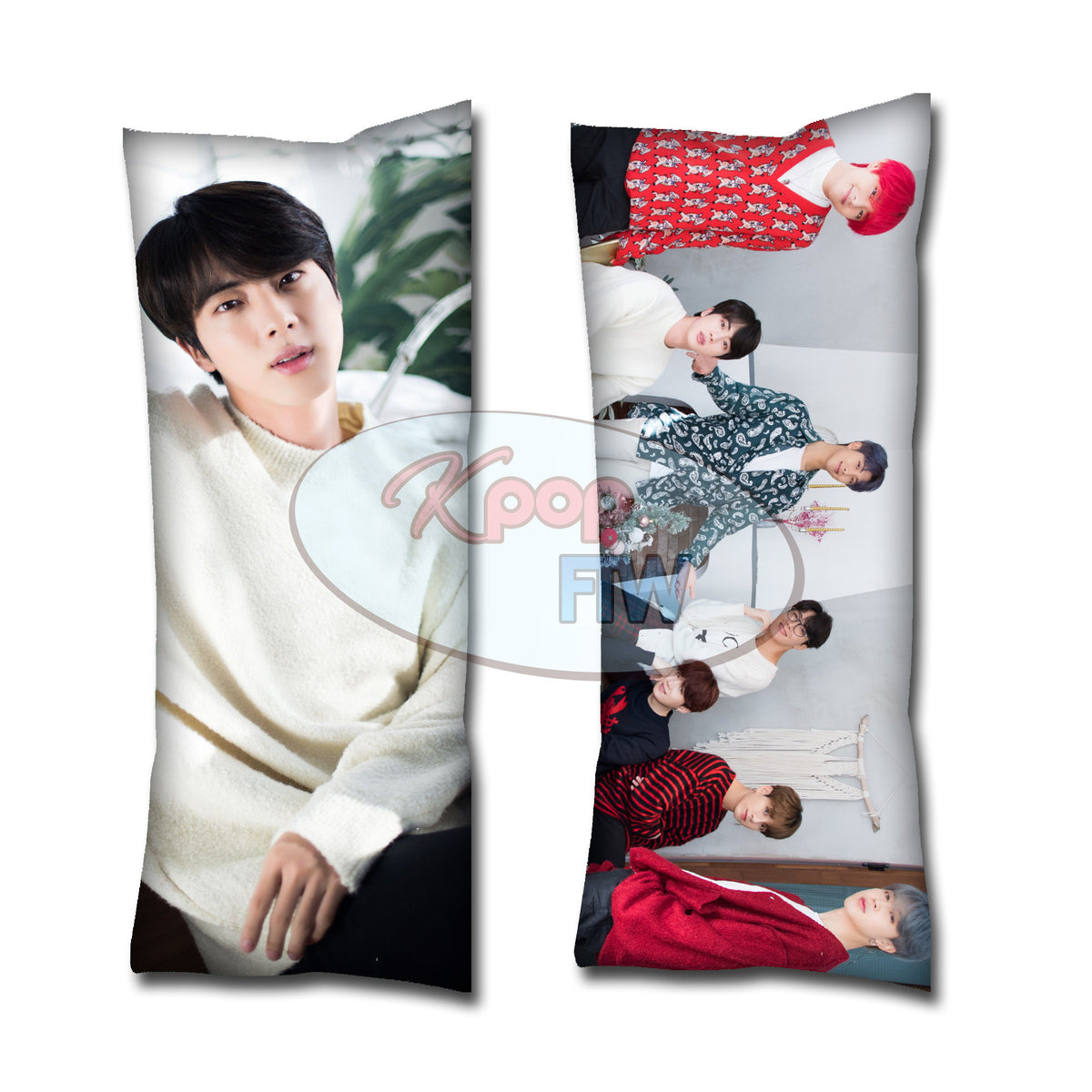 BTS Winter Jin Body Pillow // KPOP pillow // Valentines Day Gift