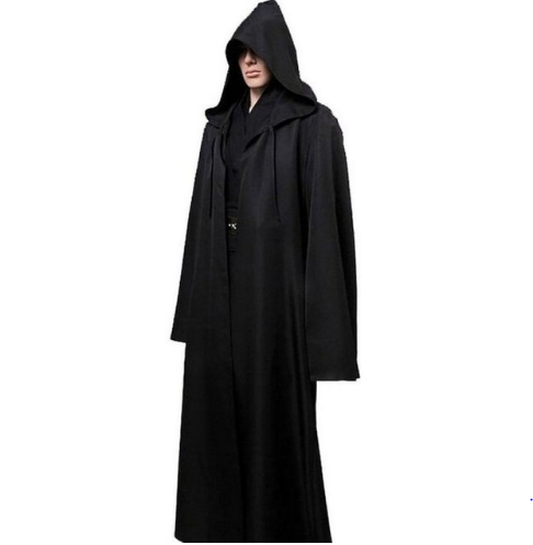 Star Wars Black Jedi Robe Cosplay Costume