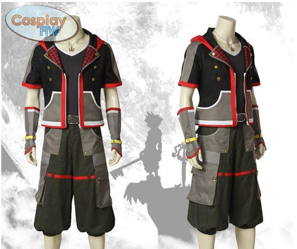 Kingdom Hearts 3 Sora Cosplay Costume / Wig