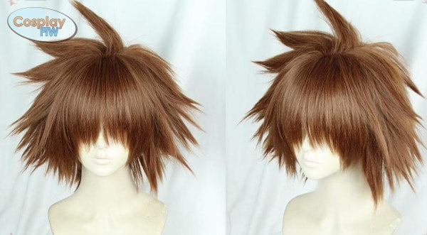 Kingdom Hearts 3 Sora Cosplay Wig / Brown One Size Wig