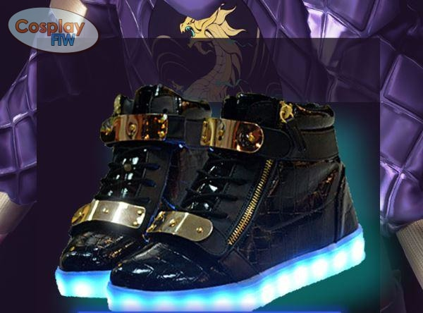League Of Legends Kda Akali Cosplay Shoes / Waterproof Led Shoes
