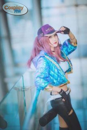 League Of Legends K/da Kda Akali Cosplay Wig Plush