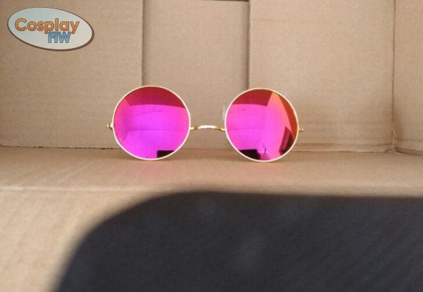 League Of Legends Kda Evelynn Cosplay Glasses / Pink Mirrored Sunglasses Costume