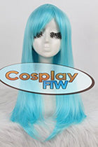 65cm Long Blue Cosplay Wig