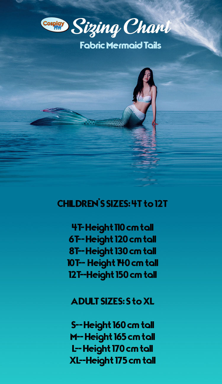 Cherry Barb Fabric Mermaid Tail Swimsuit