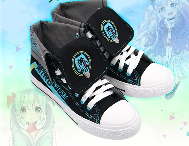 Vocaloid Hatsune Miku High Top Canvas Sneakers
