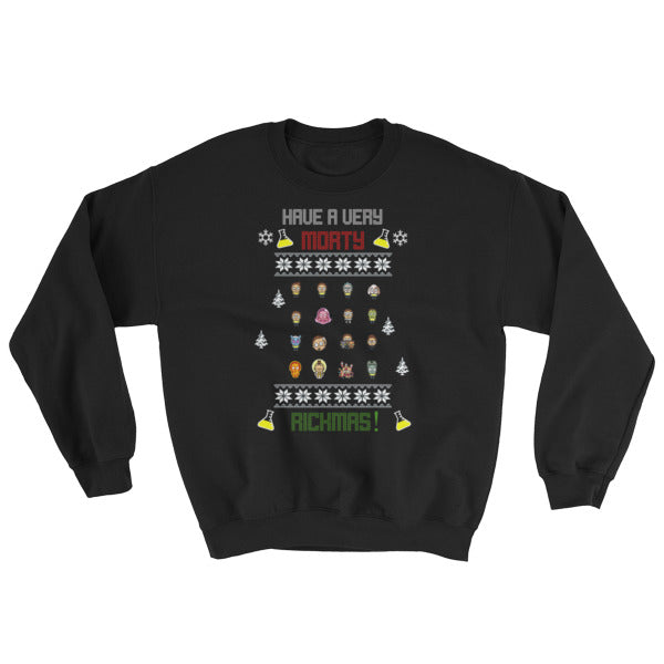 Ugly Christmas Sweater 'Morty Rickmas' Sweater