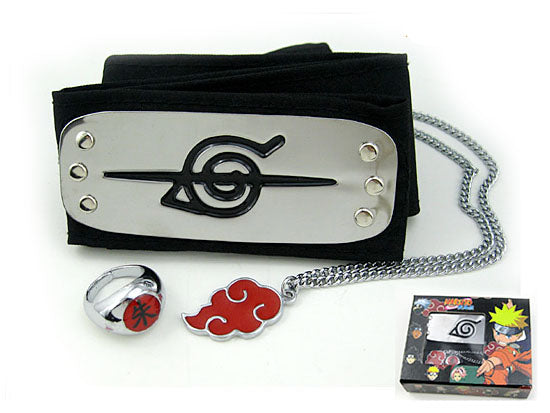 Naruto Akatsuki Anti-Leaf Headband Set