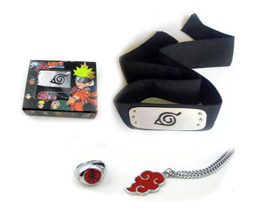 Naruto Leaf Village Headband Set