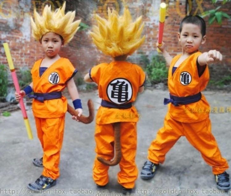 Children's Dragon Ball Z Son Goku Cosplay Costume