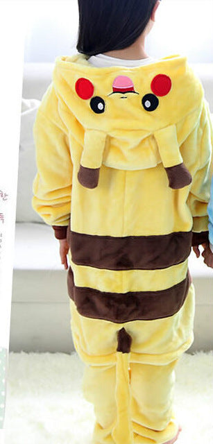 Children's Pokemon Laughing Pikachu Kigurumi