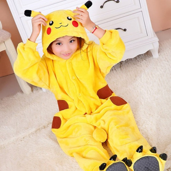 Children's Pokemon Smiling Pikachu Kigurumi