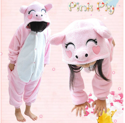 Children's Pink Piggy Kigurumi