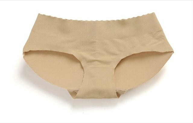 Low Rise Butt Lift Padded Seamless Panty Body Shaper (Beige)