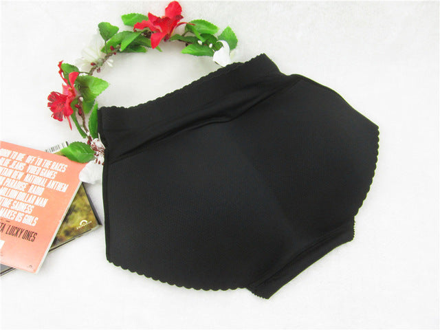 Mid-Rise Butt Lift Padded Seamless Panty Body Shaper (Black)