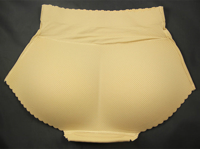 Mid-Rise Butt Lift Padded Seamless Panty Body Shaper (Beige)