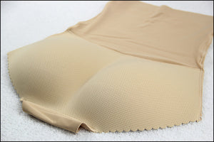 High Waist Butt Lift Padded Seamless Panty Body Shaper (Beige)