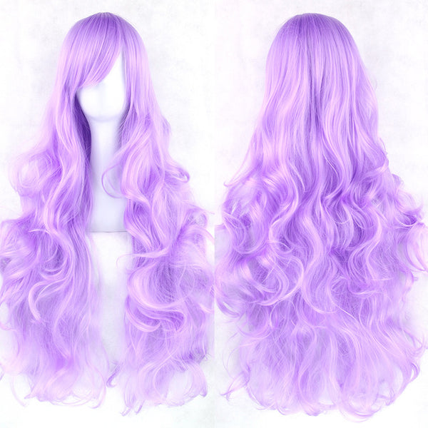 80 cm Lilac Purple Wavy Long Cosplay Wig