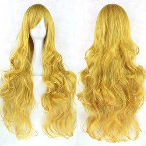 80 cm Golden Blonde Wavy Long Cosplay Wig