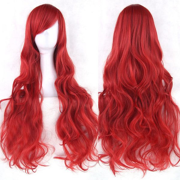 80 cm Crimson Wavy Long Cosplay Wig