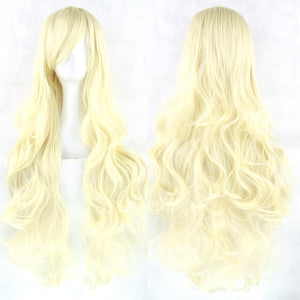 80 cm Platinum Blond Wavy Long Cosplay Wig