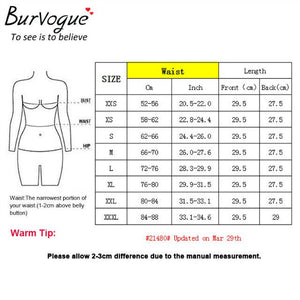 BURVOGUE Underbust Latex Steel Boned Waist Training Corset