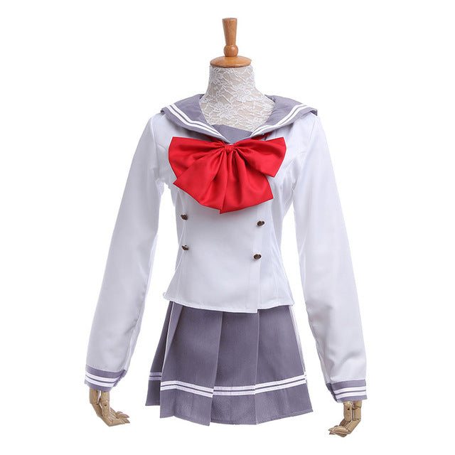Love Live! Sunshine!! School Uniform Cosplay Costume (Red Bow)