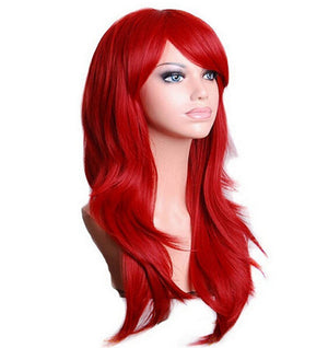 70 Cm Crimson Long Wavy Cosplay Wig