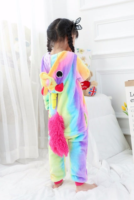 Children's Rainbow Unicorn Kigurumi