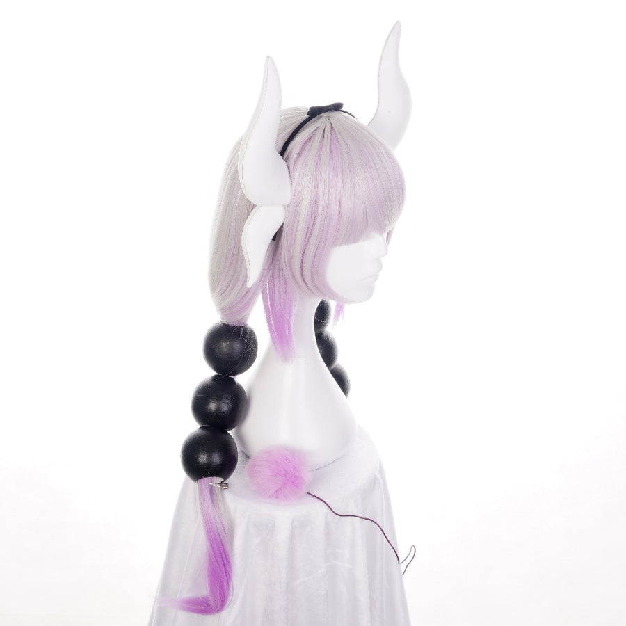 Miss Kobayashi's Dragon Maid Kanna Kamui  Cosplay Wig (With Horn Headband)