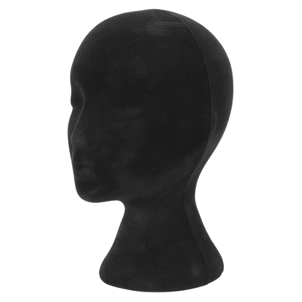 Black Foam Female Mannequin Wig Head