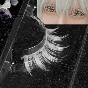 3D MINK Cosplay White Invisible Band Eyelashes