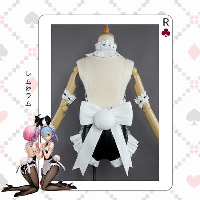 Re: Zero Rem & Ram Bunny Girl Cosplay Costume