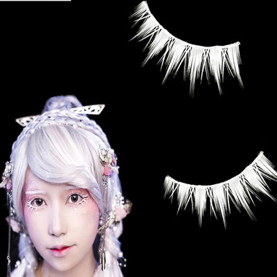 Cosplay Snowy White Invisible Band Eyelashes