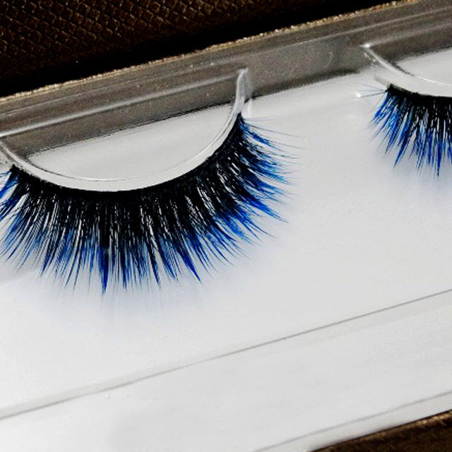 Soft Black to Blue Gradient Style Eyelashes