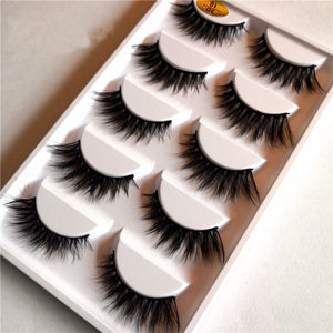 3D MINK Thicc Flared Winged eyelashes (5 Pairs)