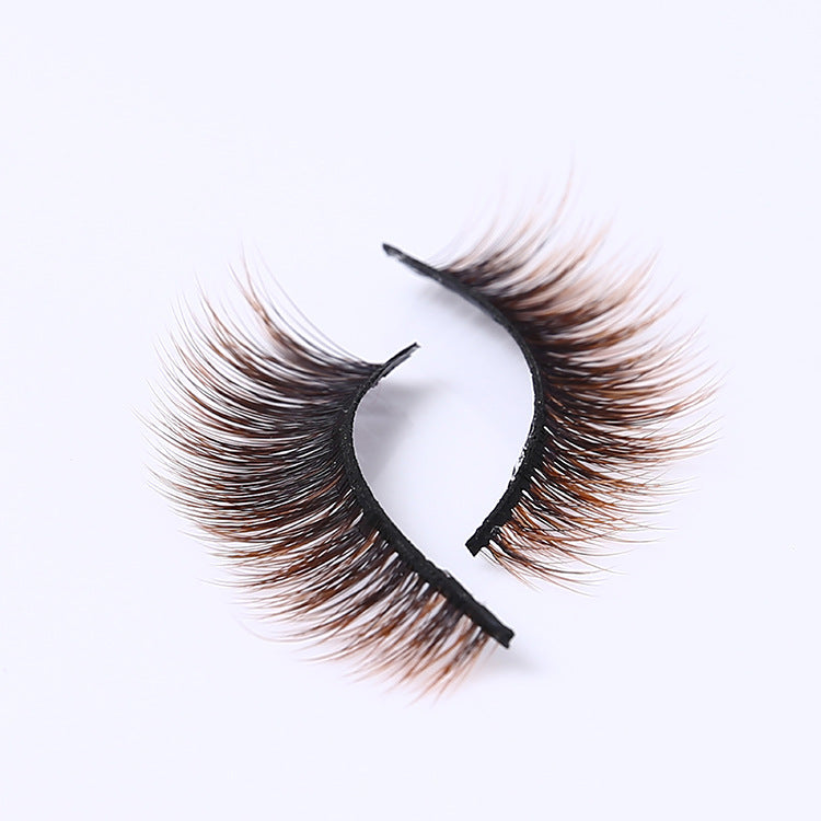 3D MINK Black-Brown Mix Style Eyelashes (3 PAIRS)