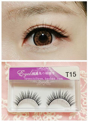 Cotton Thread Natural Cross Style Eyelashes