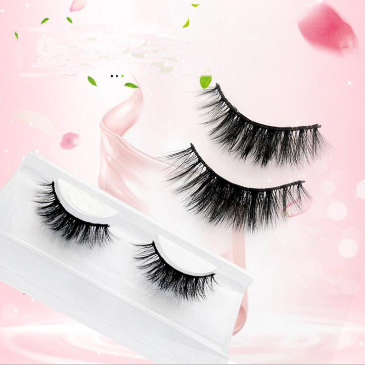 3D Mink Cotton Stalk Cross Center-Dense Style Eyelashes